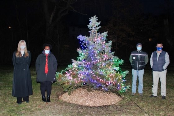 Christmas tree in Brent Watt Park lit up thanks to UNH