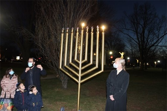 Hanukkah menorah lightings mark Jewish Festival of Lights