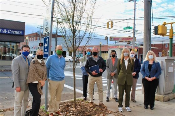 West Haven receives UI tree grant at Arbor Day celebration