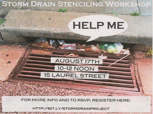 Storm drain stenciling aims to keep city beaches clean