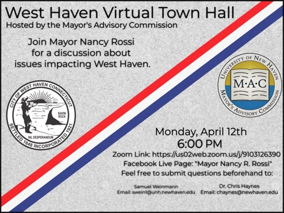 Virtual town hall flyer