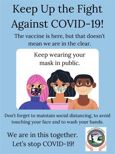 Keep Up the Fight Against COVID-19 Flyer