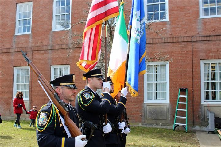 The Stars and Stripes and the Irish tricolour